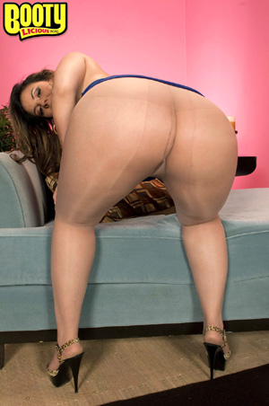 Fattest White Ass BBW Booty in Pantyhose