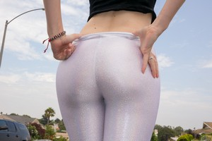 Big Ass Teens in Ripped Yoga Pants