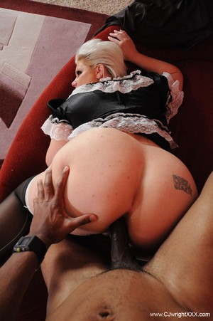 Big Booty MILF Sucking a Big Black Cock